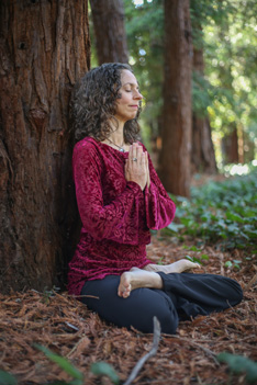 Connie Meditating