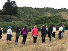 Outdoor circle at retreat