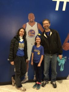 My family and I at the game - with a life-size KD