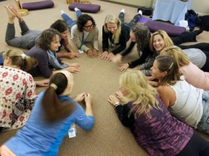 Women's retreat floor exercise